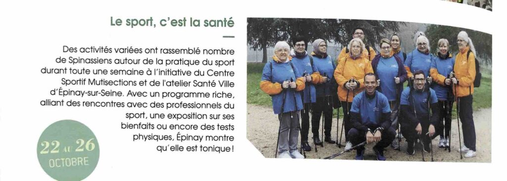 article sport santé